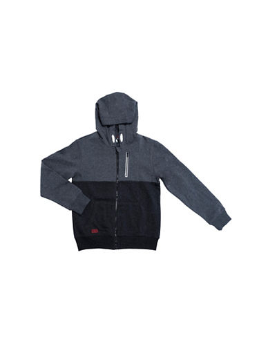 Preview Colourblock Hooded Jacket-GREY-X-Large