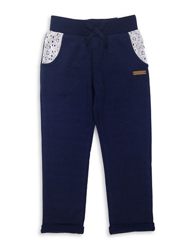 Preview Slim French Terry Jogger Pants-BLUE-4