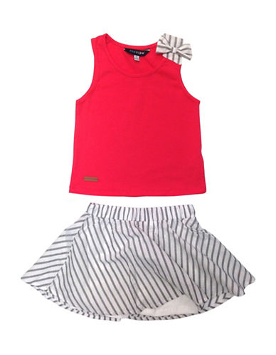 Preview Two-Piece Skort and Tank Top Set-PINK-5