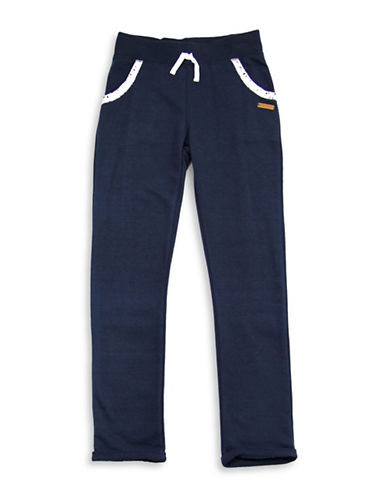 Preview Slim French Terry Jogger Pants-BLUE-8