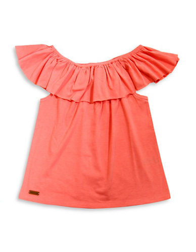 Preview Ruffled Off-the-Shoulder Top-PINK-8