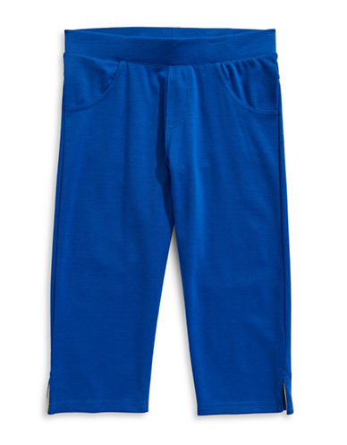 Preview Split-Cuff Capri Pants-ROYAL BLUE-7