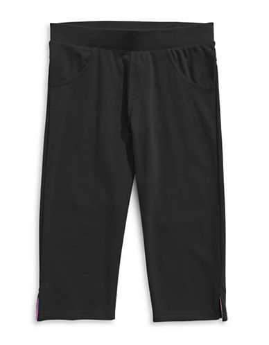 Preview Split-Cuff Capri Pants-BLACK-12