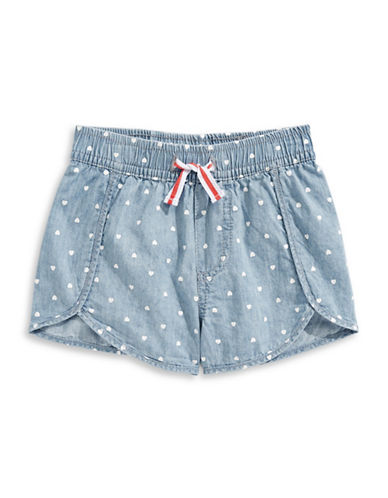 Preview Dotted Chambray Shorts-BLUE-7