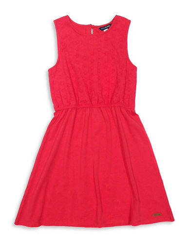 Preview Eyelet Sleeveless Dress-PINK-12