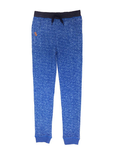 Preview Cotton-Blend Jogger Pants-BLUE-6