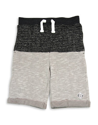 Preview Boys French Terry Bermuda Shorts-GREY-5