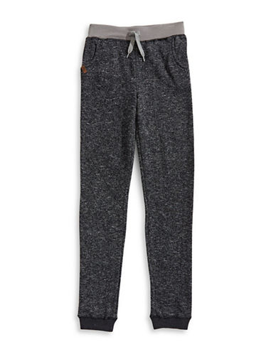 Preview Cotton-Blend Jogger Pants-BLACK-Medium