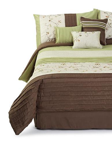 Home Studio Serena 7 Piece Comforter Set-MULTI-King
