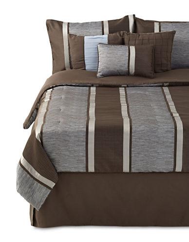 Home Studio Melbourne Comforter Set-GREY-King