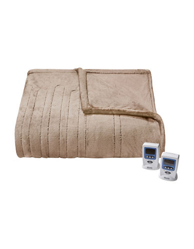 Beautyrest Black Luxury Heated Electric Blanket-TAUPE-King