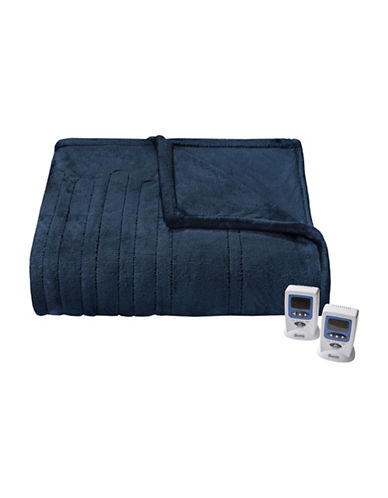 Beautyrest Black Luxury Heated Electric Blanket-NAVY-Twin
