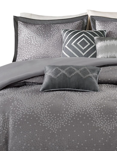 Madison Park Quinn Six-Piece Duvet Cover Set-GREY-King