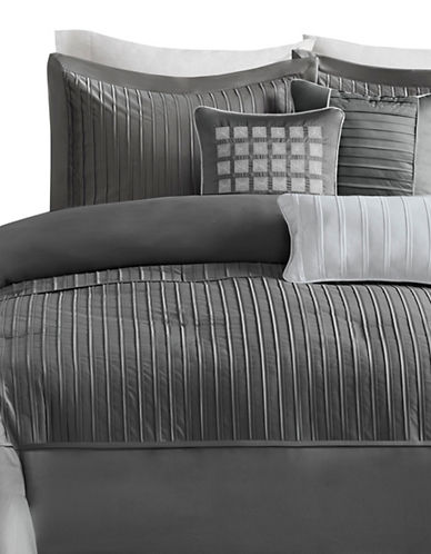 Madison Park Trinity Six-Piece Duvet Cover Set-GREY-King
