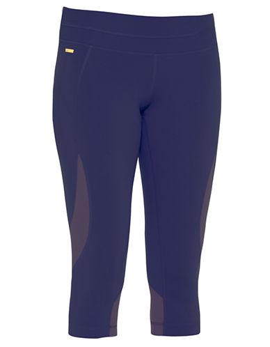 Lole Run Printed Capri Leggings-BLUE-X-Small