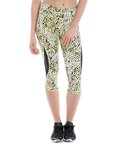 Lole Graphic Print Active Capris-YELLOW-Medium 88324274_YELLOW_Medium