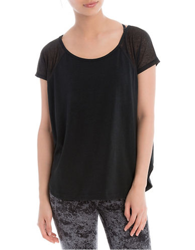 Lole Mukhala Short Sleeve Top-BLACK-Large 88505393_BLACK_Large