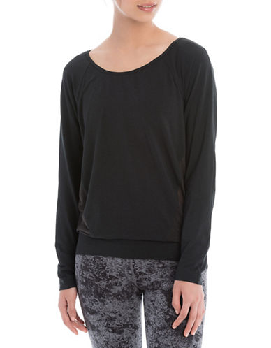 Lole Suddhi Organic Cotton-Blend Top-BLACK-Large 88595478_BLACK_Large