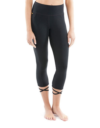 Lole Eliana Organic Cotton Blend Capris-BLACK-Large 88595473_BLACK_Large