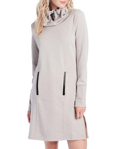 Lole Funnel-Neck Dress-WARM GREY HEATHER-Medium 88735299_WARM GREY HEATHER_Medium