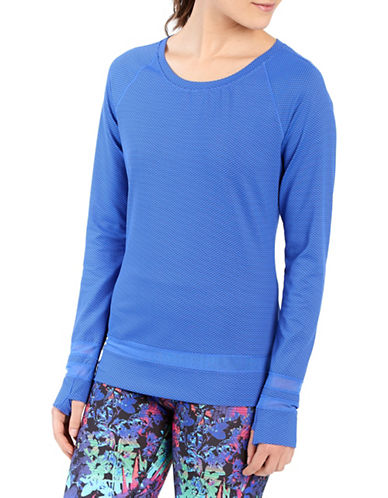 Lole Zaire Dash Jacquard Top-DAZZLING BLUE-X-Small