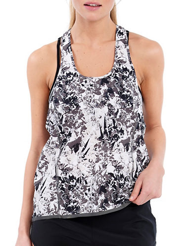 Lole Jazna Printed Straight-Fit Sports Tank Top-DARK CHARCOAL-X-Large