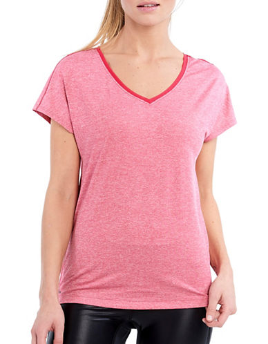 Lole Balia Textured Boxy Fit Top-TROPICAL ROSE HEATHER-X-Small