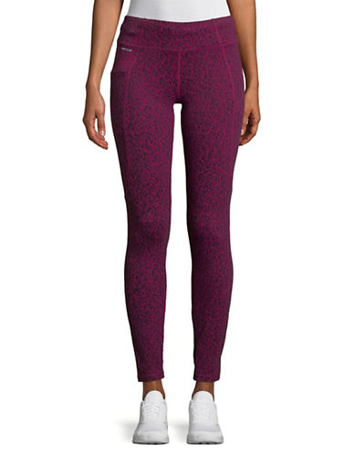 Lole Evie Printed Leggings-DARK BERRY-Small