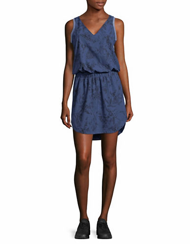 Lole Printed V-Neck Dress-BLUE-X-Small