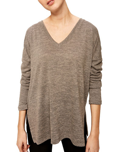 Lole Kaseka V-Neck Top-GREY-Large