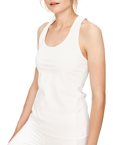 Lole Aspect Slim-Fit Tank Top-WHITE-Small