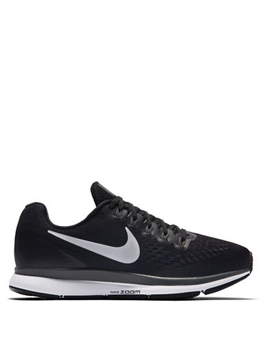 Nike Womens Zoom Air Mesh Sneakers-BLACK-5.5