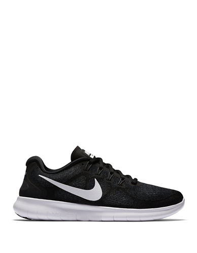 Nike Womens Free Mesh Running Sneakers-BLACK-5.5