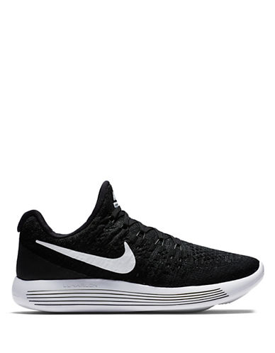 Nike Womens FlyKnit Lunar Sneakers-BLACK-9.5