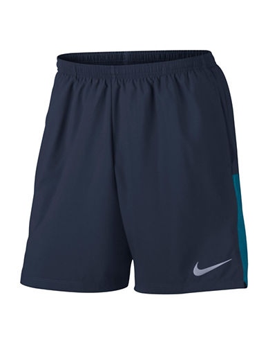 Nike Flex Running Shorts-GREEN-Medium