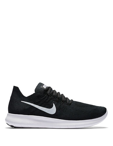 Nike RN Flyknit Logo Sneakers-BLACK-6.5