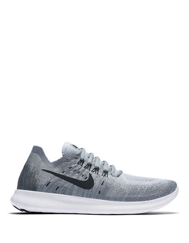 Nike Womens Flyknit Running Shoes-GREY-8