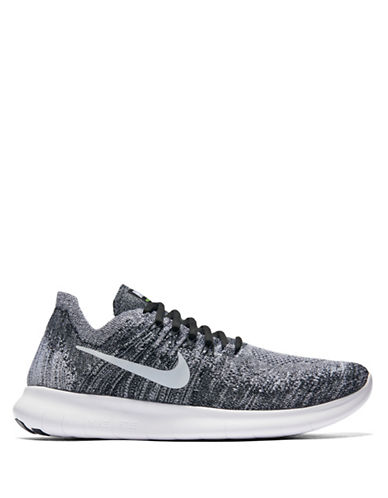 Nike Womens Free RN Flyknit 2017 Athletic Sneakers-BLACK-6