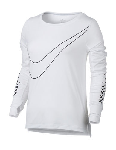 Nike Reflective Long Sleeve Logo Top-WHITE-Large 88952411_WHITE_Large
