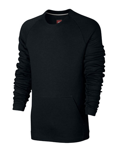Nike Sportswear Tech Fleece Crew Top-BLACK-Large