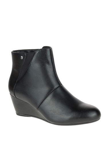 Hush Puppies Poised Rhea Leather Boots-BLACK LEATHER-7