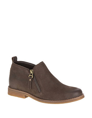 Hush Puppies Mazin Cayto Leather Boots-BROWN-5