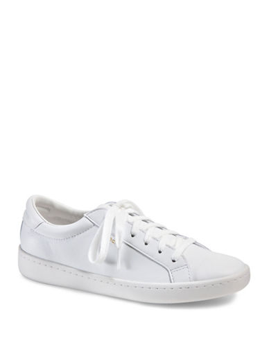 Keds Womens Ace Leather Sneakers-WHITE-10