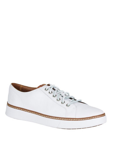 Sperry Clipper Leather Sneakers-WHITE-10.5