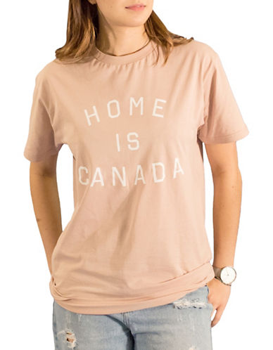 Peace Collective Cotton Crew Neck Tee-ROSE-Large