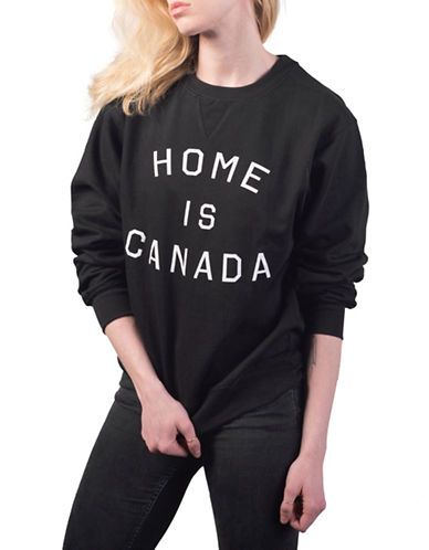 Peace Collective Home is Canada Sweatshirt-BLACK-Small