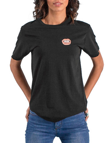 Peace Collective Canadian Babe Lips Tee-BLACK-Small