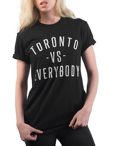 Peace Collective Toronto vs Everybody Crew Neck T-Shirt-BLACK-Large