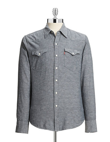 LeviS Barstow Western Shirt-LIGHT BLUE-Small