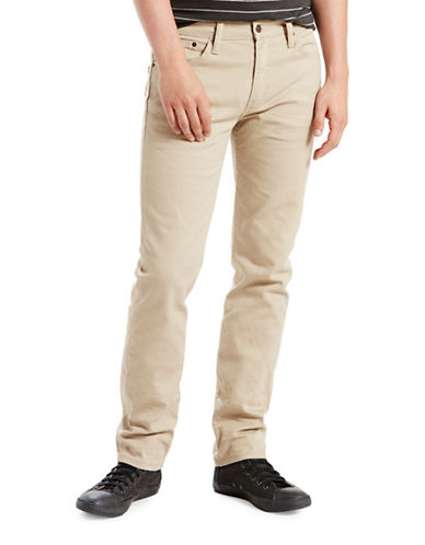 LeviS 511 Slim-Fit Punk Star Chino Pants-BEIGE-34X30